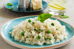 Risotto with asparagus Royalty Free Stock Photos