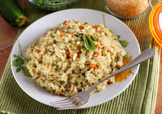 Risotto with assorted vegetables Stock Photos