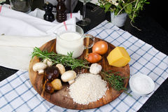 Risotto avec des champignons de couche Photo libre de droits