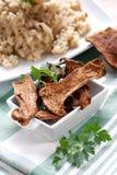 Risotto avec des champignons de couche de porcini Images stock
