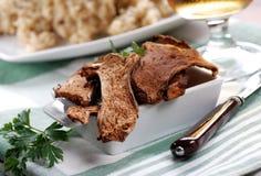 Risotto avec des champignons de couche de porcini Photo libre de droits