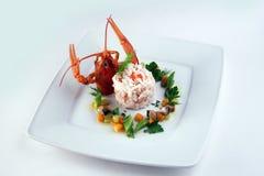 Risotto avec le crabe Image stock