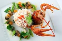 Risotto avec le crabe Image libre de droits
