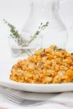 Risotto avec le thon et les légumes image stock