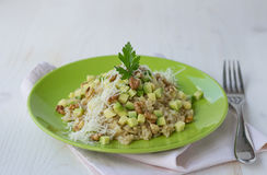 Risotto with avocado and walnuts Stock Photos