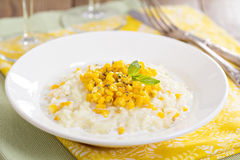 Risotto with baked corn Royalty Free Stock Photos