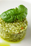 Risotto with Basil Royalty Free Stock Photo