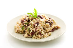 Risotto with black olives Royalty Free Stock Images