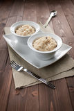 Risotto with black truffle Stock Images