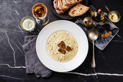 Risotto with black truffle Stock Image