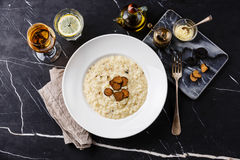Risotto with black truffle Stock Photography
