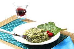 Risotto with borage Royalty Free Stock Photos