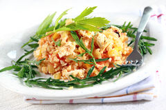 Risotto with bulgur Stock Photo