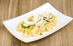 Risotto with calamari Stock Image