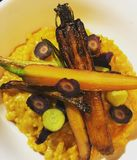 Risotto with Carrots Three Ways stock photos