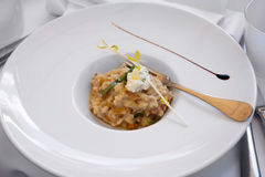 Risotto with chantarelle stock photo