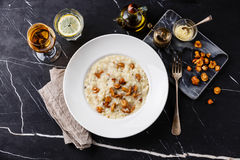 Risotto with chanterelle mushroom Royalty Free Stock Image