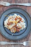 Risotto with chanterelle. Royalty Free Stock Photography