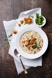Risotto with chanterelles Stock Images