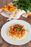 Risotto with chanterelles Stock Image