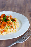 Risotto with chanterelles Royalty Free Stock Photography