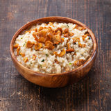 Risotto with chanterelles Royalty Free Stock Photo