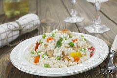 Risotto with chicken and vegetables Royalty Free Stock Images