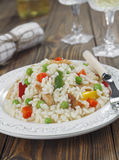 Risotto with chicken and vegetables Royalty Free Stock Image