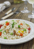 Risotto with chicken and vegetables Stock Photos