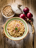 Risotto with chickpeas royalty free stock photos