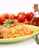 Risotto con i pomodori Fotografie Stock