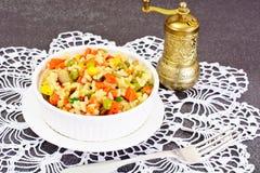 Risotto con las verduras, guisantes Imagen de archivo libre de regalías