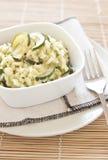 Risotto con lo zucchini Fotografia Stock