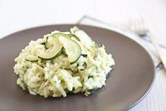 Risotto con lo zucchini Fotografie Stock