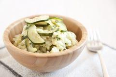 Risotto con lo zucchini Immagini Stock