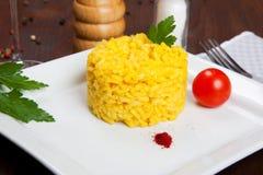 Risotto con zafferano, alla del risotto milanese Immagini Stock