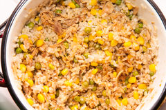 Risotto with corn Stock Image
