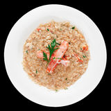 Risotto with crab Stock Image