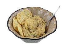 Risotto Crackers In Bowl Spoon Royalty Free Stock Photography