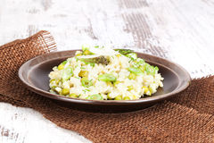 Risotto. Culinary vegetarian eating. Stock Images
