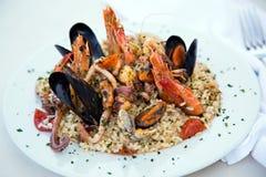 Risotto d'Italien de fruits de mer Image stock