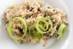 Risotto de champignon de couche Photo libre de droits