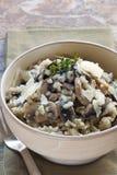 Risotto de champignon de couche Image libre de droits