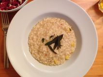 Risotto de courge de gland images libres de droits