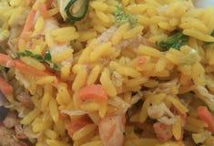 Risotto de poulet de wok Images libres de droits
