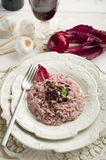 Risotto de Radicchio Photo stock