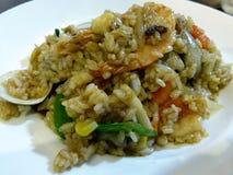 Risotto dei frutti di mare in un ristorante piacevole. Immagini Stock Libere da Diritti