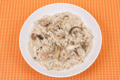Risotto do cogumelo fotografia de stock royalty free