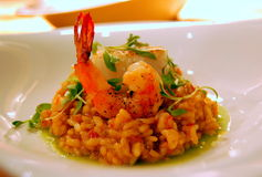 Risotto do marisco Fotos de Stock