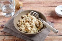 Risotto with field mushrooms Royalty Free Stock Images